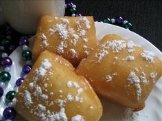 "French Market Beignets from Food.com: Friends that were recently in New Orleans gave me this recipe credited to ""Cajun Tours"". They said these beignets were delicious. I have not made them but if my friends said they are good then they are!I have no idea how many this recipe makes but it is quite a few"