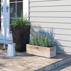 Rural wooden furniture and accessories were used in and around farms for many years. The planter has a rectangular shape and provides plenty of room in which to plant flowers and herbs. Making it easy to turn a bland wall into a green oasis.