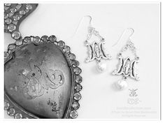Ave Maria Earrings using Sterling and Freshwater Pearls from theRDBcollection, $58.00