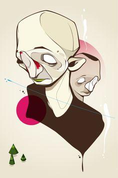 En esta ilustración se expresa de manera intencional una forma de representacion de la tristeza