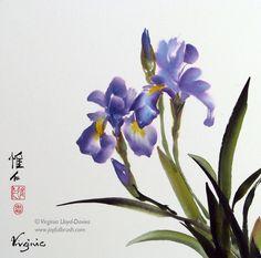 Flowers and birds by internationally renowned YouTube artist Virginia Lloyd-Davies. Iris, plum, peony, gladioli, wisteria, bees.