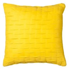 Room Essentials Pintuck Bright Yellow Toss Pillow 18x18 Target Pillows Kids