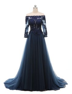 Fnina Women's Tulle Off Shoulder Beads Evening Dress Formal Prom Gowns M120 * Check this awesome product by going to the link at the image. (This is an affiliate link and I receive a commission for the sales)