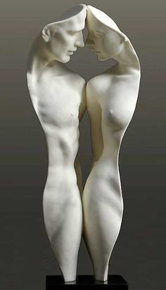 """We two"" - Parian II sculpture by Gaylord Ho. More at http://www.piccadillys.com/gaylord/sculptures.html (Thx Victorius)"