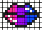 Perler Bead Templates, Diy Perler Beads, Perler Bead Art, Bead Loom Patterns, Perler Patterns, Cross Stitch Patterns, Cross Stitch Fruit, Mini Cross Stitch, Pixel Pattern