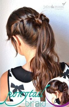 #long hair, #braids, #pony tail, #how to  braid hair, #brown hair, #casual hair styles, #how to braid hair