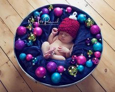 I adore the hat and the photo! Crochet PATTERN Holiday Ornament Hat Crochet PDF 296 - Newborn to Adult - Permission To Sell Finished Item - Photography Prop. $3.99, via Etsy.