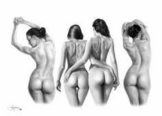 The Female Form drawing by *Portraitz on deviantART Back Drawing, Form Drawing, Female Drawing, Woman Drawing, Life Drawing, Figure Drawing, Pencil Drawings, Art Drawings, Sisters Drawing