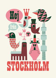 My Christmas present from the boyfriend. Stockholm is one of our favourite cities and love this print by Ingela P Arrhenius.