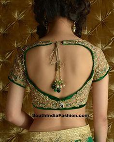 Net Saree Blouse ~ Celebrity Sarees, Designer Sarees, Bridal Sarees, Latest Blouse Designs 2014 South India Fashion