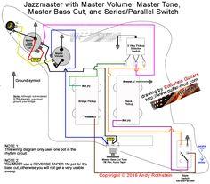 fender jaguar bass wiring diagram bricolage et diy pinterest rh pinterest com Fender Jaguar Wiring-Diagram 1995 Jaguar XJ6 Wiring-Diagram