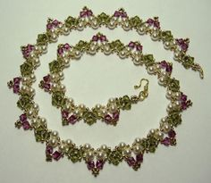 Various Free Crystal Bead Patterns: Garden Necklace