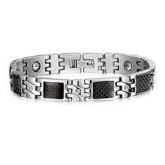 MoAndy Jewelry Titanium Steel & Carbon Fiber Men's Fashion Bracelet Magnets Anti Fatigue Health Black And White - http://yourpego.com/moandy-jewelry-titanium-steel-carbon-fiber-mens-fashion-bracelet-magnets-anti-fatigue-health-black-and-white/?utm_source=PN&utm_medium=http%3A%2F%2Fwww.pinterest.com%2Fpin%2F368450813235896433&utm_campaign=SNAP%2Bfrom%2BHealth+Guide