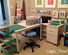Simply Pieced. Sewing room part 2