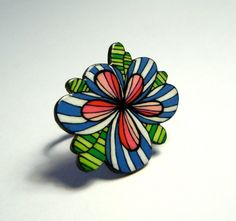 Shrink plastic jewellery by Etsy seller COLRtheory.