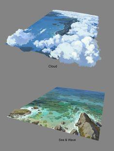 Digital Painting Tutorials, Digital Art Tutorial, Art Tutorials, Concept Art Tutorial, Landscape Concept, Landscape Art, Environment Painting, Environmental Art, Grafik Design