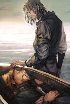 Aragorn and boromir