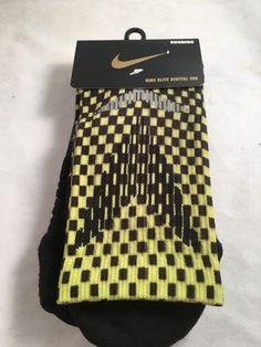Nike Elite Digital Running Socks Women's Shoe Size 7.5-9 $35 Black Green SX9974 #Nike #Athletic