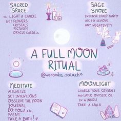 The next FULL MOON is this week. For my time zone it's Saturday. I hope you'll enjoy this Full Moon Ritual infographics for future…