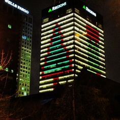 Regions' annual Christmas lighting in downtown Birmingham.