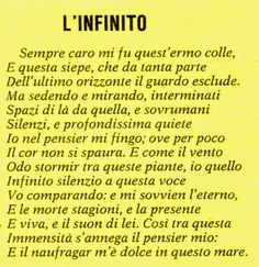 Giacomo Leopardi L'infinito San Diego State University, Renz, Italian Language, More Than Words, Sentences, Feel Good, Thats Not My, Told You So, Songs