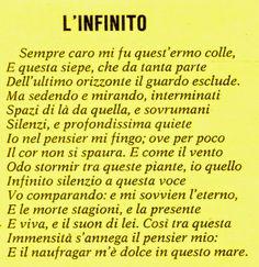 Giacomo Leopardi L'infinito