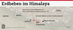 Erdbeben im #Himalaya - #Infografik (Bild: BILD)