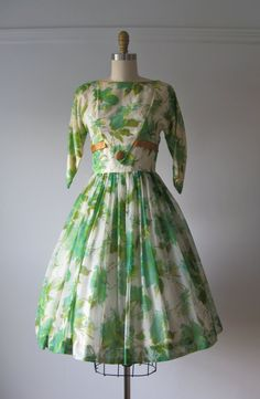 vintage 1950s dress / 50s dress / Spring Queen by Dronning on Etsy, $220.00