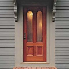 Trim around the front door - this could be a simple update for our current home
