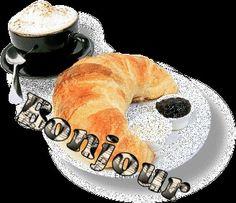 un café croissant s'il vous plaît