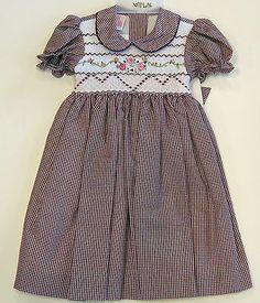 Will'Beth Boutique Smocked Burgandy Dress Girls 18M Spring Pageant Toddler | eBay