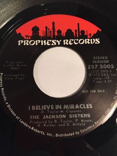 Jackson Sisters I Believe In Miracles 45 Promo Prophesy Records RARE Soul Funk #Funk