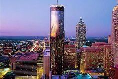 Attractive The Westin Atlanta   Revolving Restaurant On Top Floor Where You Can See  All Of Atlanta