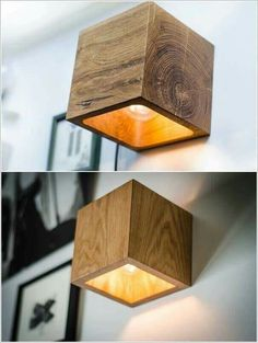 10 creative and unique DIY wall lamps - 10 creative and unique DIY . - 10 creative and unique DIY wall lights – 10 creative and unique DIY wall lights – - Deco Luminaire, Diy Home Decor, Room Decor, Diy Wand, Diy Headboards, Wooden Lamp, Wooden Decor, Wooden Crafts, Unique Lighting