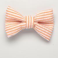 Small Orange Seersucker Bow