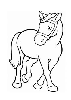 Pony Ausmalbilder Gratis Elephant Coloring Page, Farm Animal Coloring Pages, Cartoon Coloring Pages, Coloring Book Pages, Art Drawings For Kids, Art Drawings Sketches, Cartoon Drawings, Easy Drawings, Animal Drawings