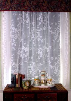 Honeybee Lace Curtains In Parlor Window JB Burrow
