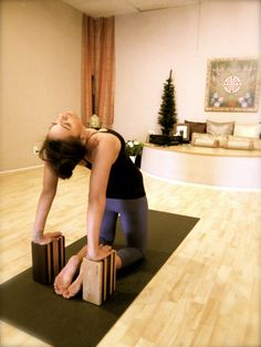 Yoga blocks for camel pose