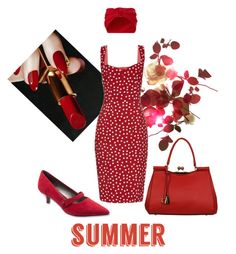 """Dotty Summer"" by najoli ❤ liked on Polyvore featuring Persona, Dolce&Gabbana, Trotters, Black Rivet and Jennifer Behr"