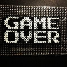 Game over perler