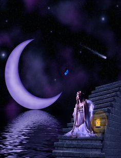 Purple Moon  .... Star Catcher ashensorrow.deviantart.com