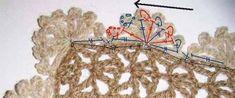 tığ işi örgü atkı modeli