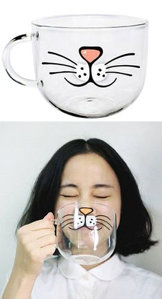 Cute! http://www.ebay.com/itm/Transparent-Glass-Coffee-Cup-Mug-Milk-Juice-Water-Cup-Cute-Home-Decoration-/251991828429