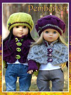 Ravelry: Pemberton pattern by Deb Denair. $2.75 for capelet & fingerless glove pattern - beret pattern free*
