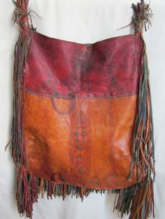 ♪beautiful patina on a tribal leather bag