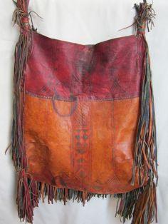 ♪beautiful patina on a tribal leather bag