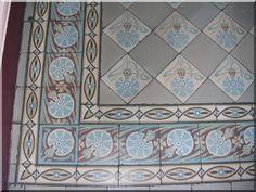 cement tiles, art nouveau, Toulon, France
