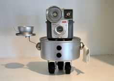 Pierre Your Personal Maitre D'  A Recycled Robot by RemnantsbyRJ, $80.00