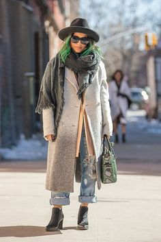 Green With Envy and More Rainbow Street Style Hair Ideas