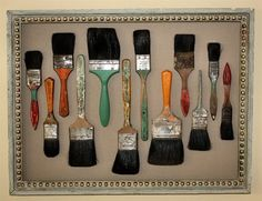 Arranged in an artful manner & beautifully #customframed , even paintbrushes can become #art !!!